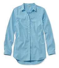 Women's Stretch Travel Tunic Shirt, Gingham