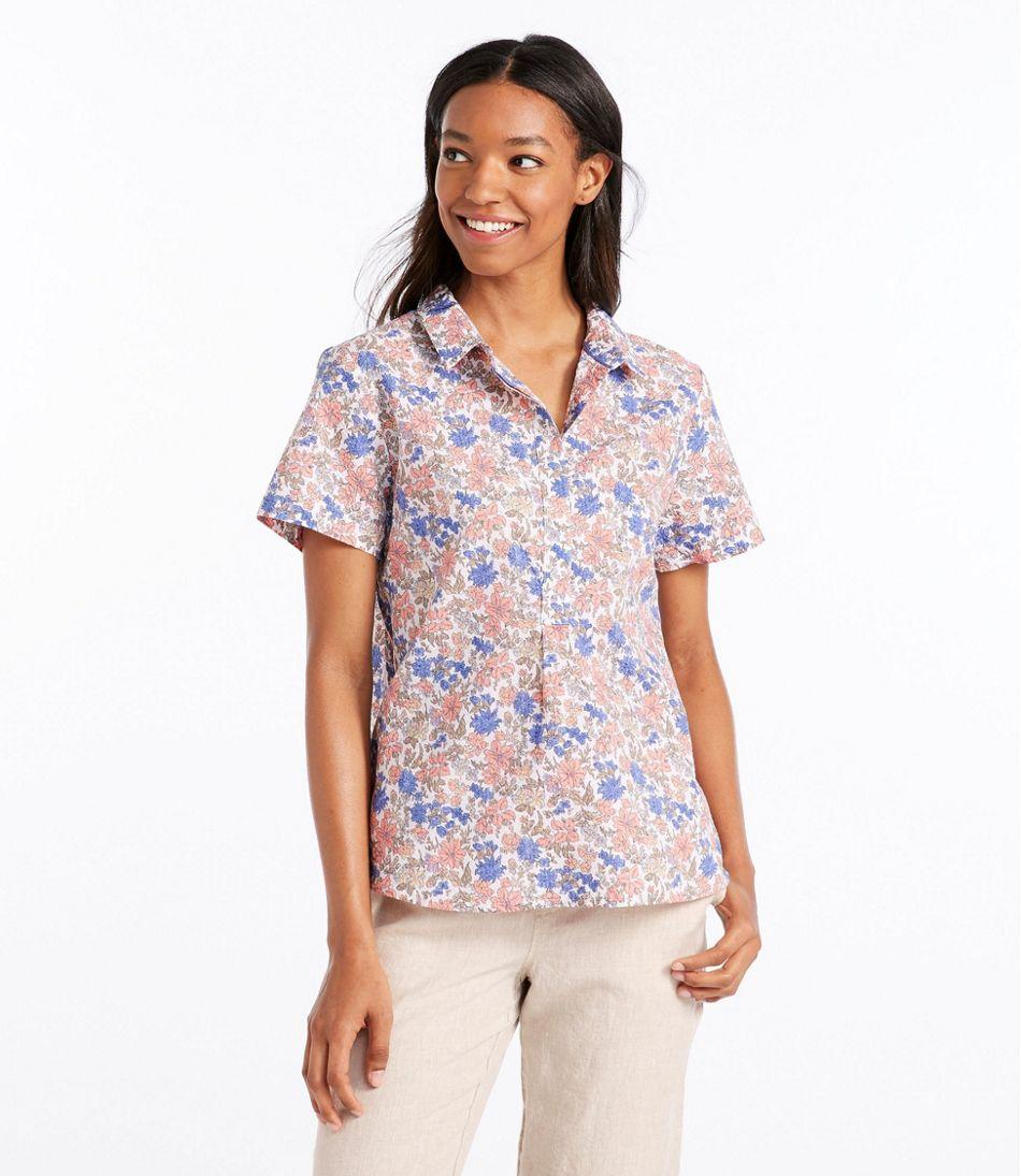 02d29f3d836cd Women s Textured Cotton Popover Shirt