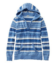 Midweight Cotton Slub Hooded Pullover, Stripe