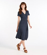 Summer Knit Dress, Short-Sleeve Beach Pebble Print