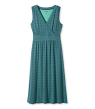 Women's Summer Knit Dress, Sleeveless Printed Grid