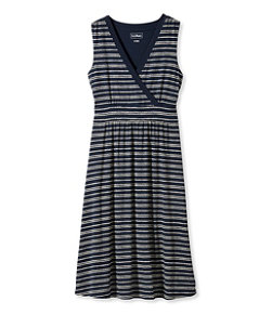 Summer Knit Dress, Sleeveless Pebbles Stripe Print