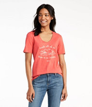 Organic Cotton Tee, Short-Sleeve U-Neck Graphic