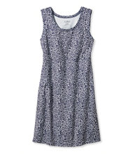 Sleeveless Fitness Dress, Floral Stamp Print