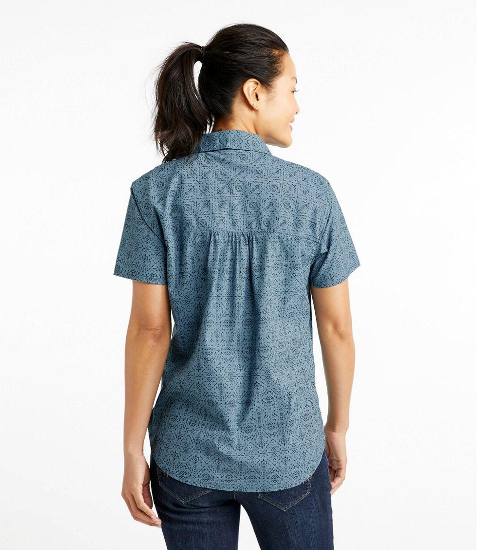 Women's Beach Cruiser Summer Shirt, Short Sleeve Print