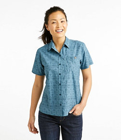 Women's Beach Cruiser Summer Shirt, Short Sleeve Print