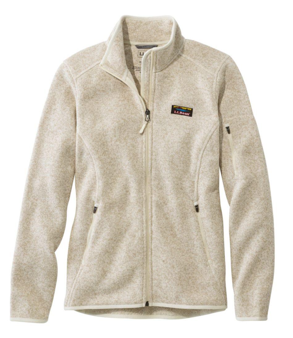 Womens Llbean Sweater Fleece Full Zip Jacket