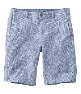 Women's Washed Chino Bermuda Shorts, Seersucker Patchwork