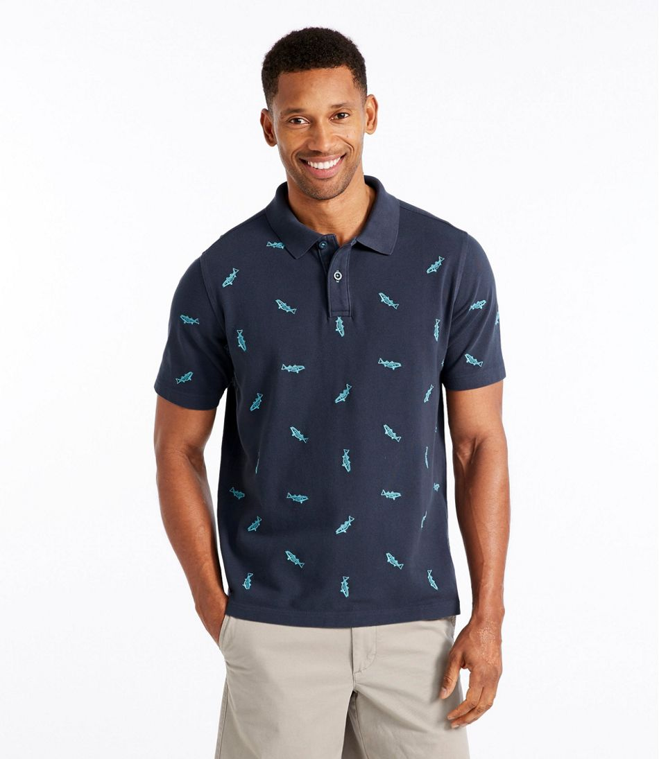 Lakewashed® Pique Polo, Short-Sleeve Slightly Fitted Embroidered