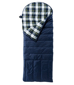 Adults' Deluxe Flannel-Lined Camp Bag, 30°