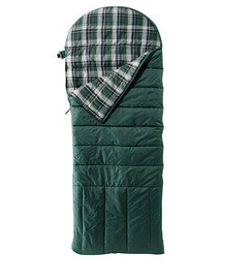 Deluxe Flannel-Lined Camp Bag, 30°