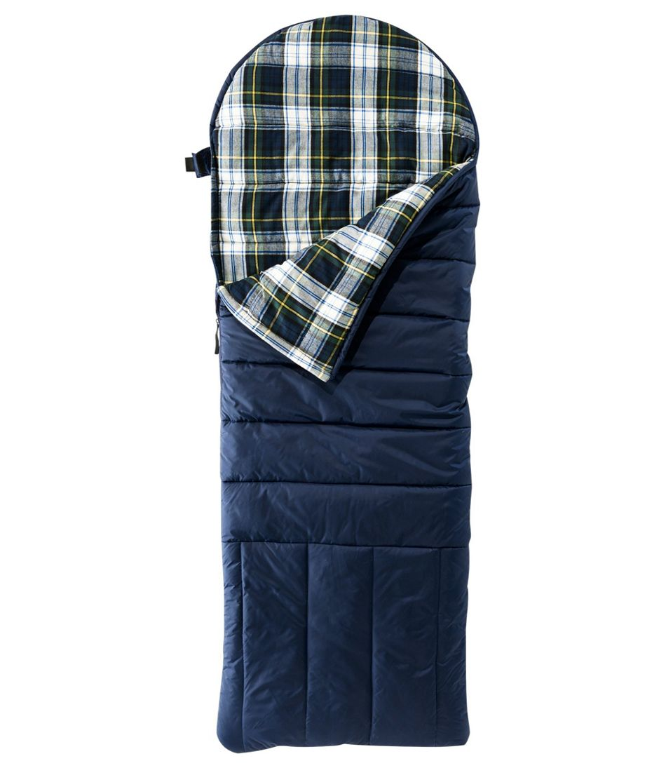 Deluxe Flannel-Lined Camp Bag 30°, Kids'