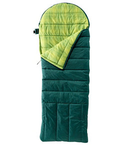 Kids' Deluxe Flannel-Lined Camp Bag 30°