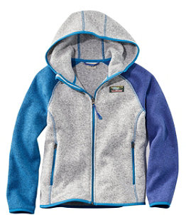Kids' L.L.Bean Sweater Fleece, Hooded, Colorblock