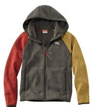 Kids' L.L.Bean Sweater Fleece, Hooded, Colorblock
