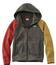 36f1fc25bd79 Kids' L.L.Bean Sweater Fleece, Hooded, Colorblock