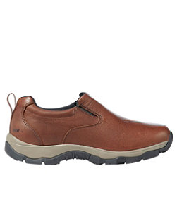 Men's Insulated Waterproof Comfort Mocs with Arctic Grip, Leather