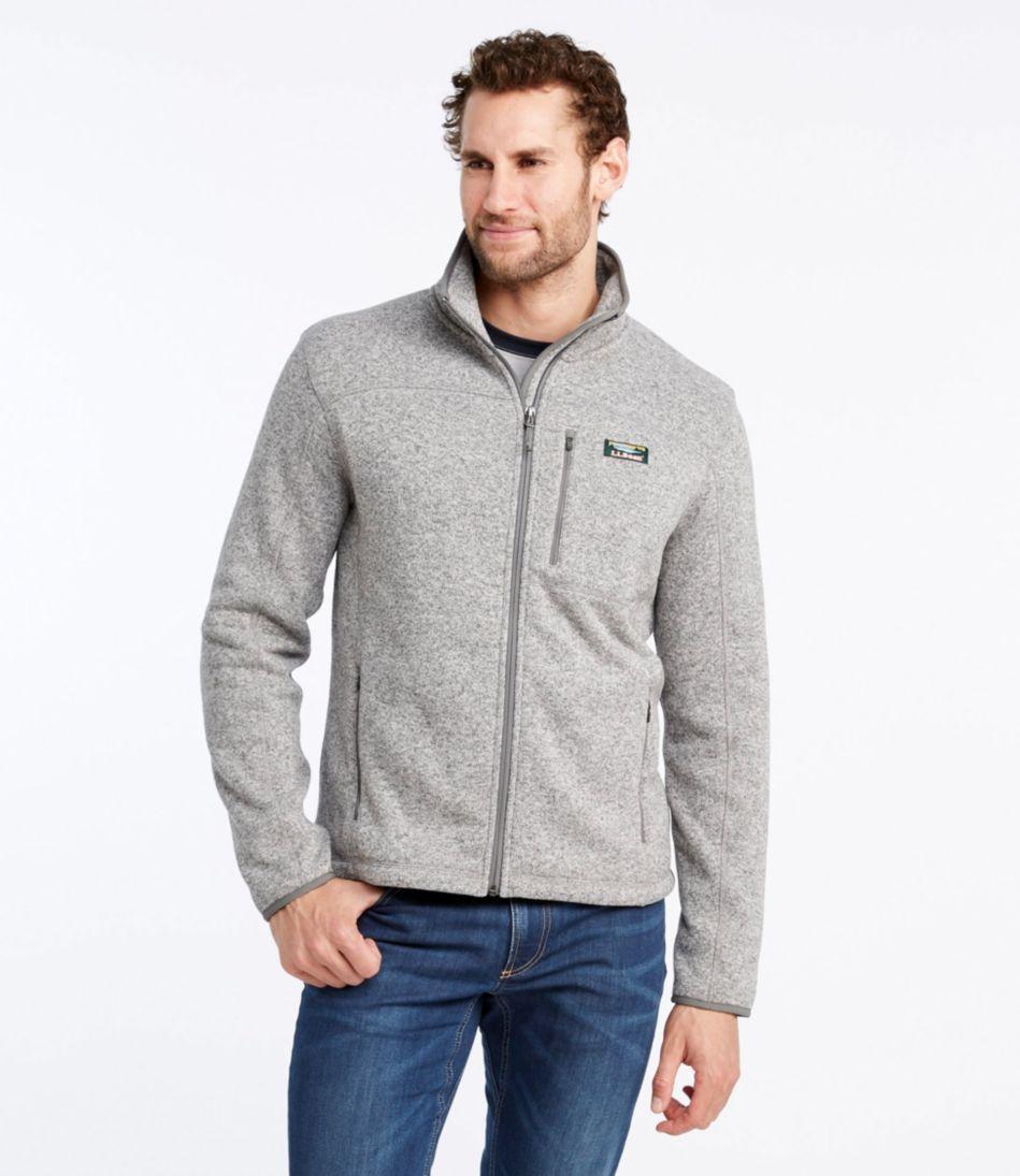 Mens Llbean Sweater Fleece Full Zip Jacket