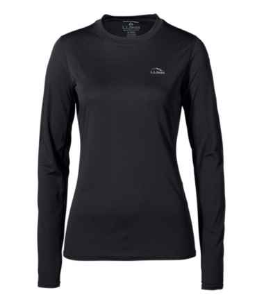 Women's L.L.Bean Lightweight Crew Base Layer, Long Sleeve