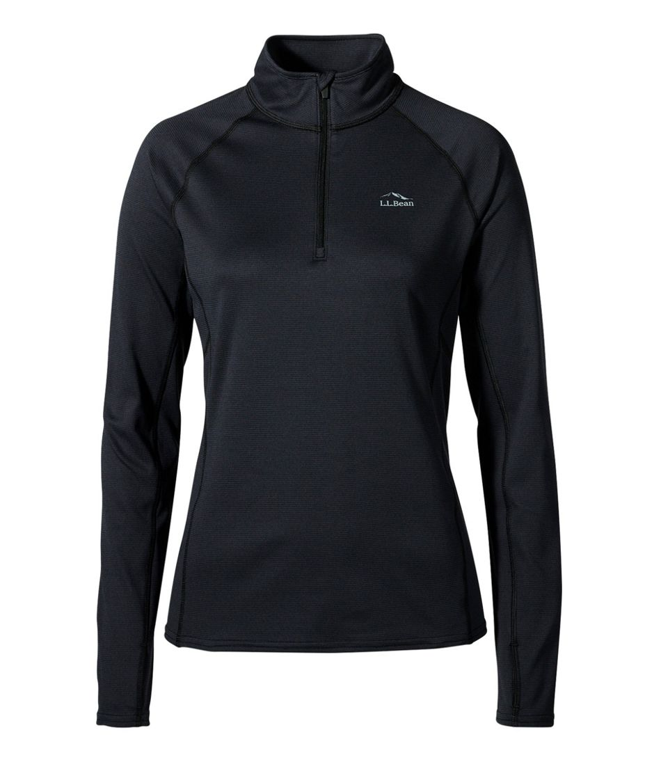 Women's L.L.Bean Midweight Base Layer, 1/4 Zip