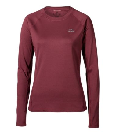 Women's L.L.Bean Midweight Crew Base Layer, Long Sleeve