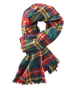 Scotch Plaid Flannel Scarf