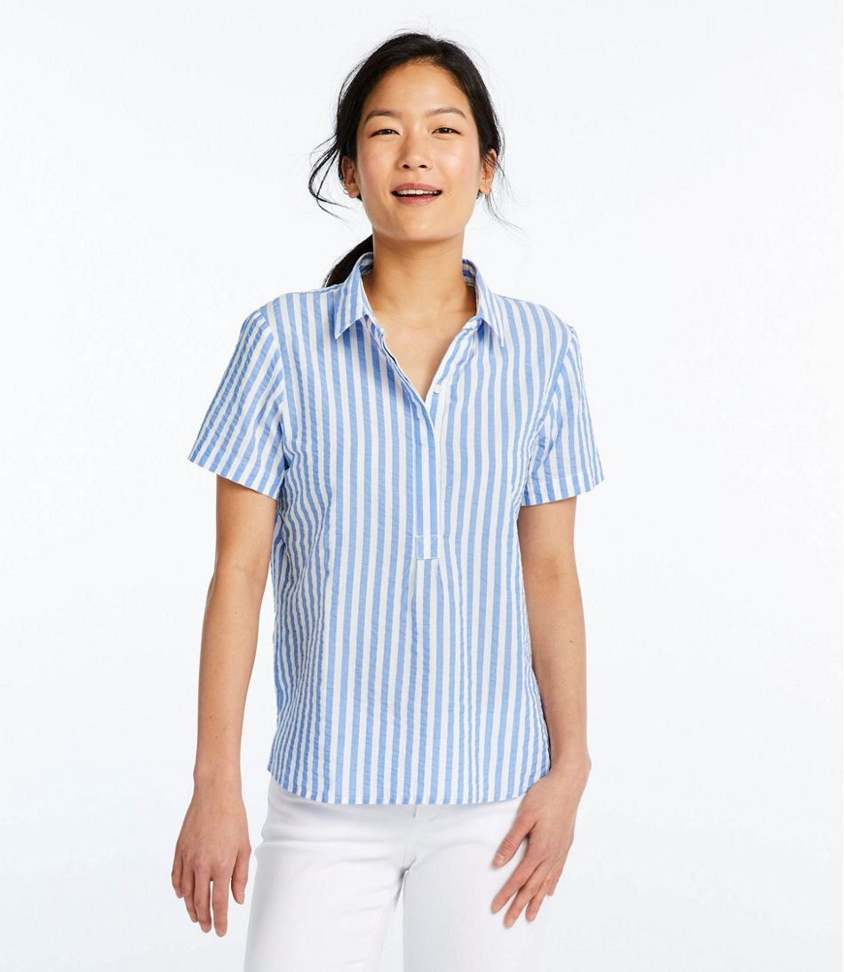 64efdc6a35e Women s Textured Cotton Popover Shirt