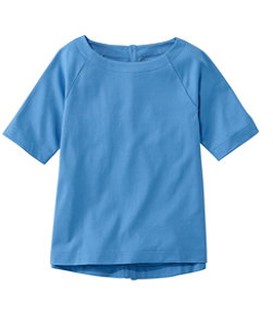 Women's L.L.Bean Tee, Button-Back