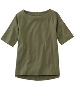 L.L.Bean Tee, Button-Back