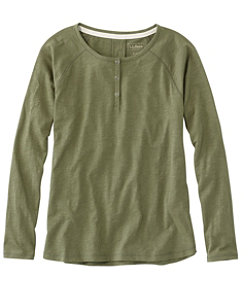 Women's Organic Cotton Tee Long-Sleeve Henley