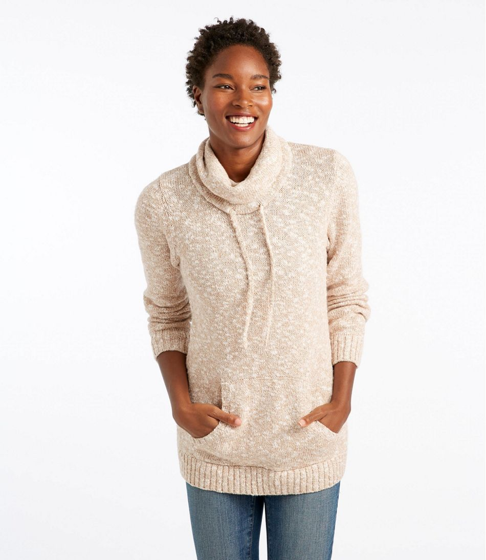 Women's Cotton Ragg Sweater, Cowl Pullover