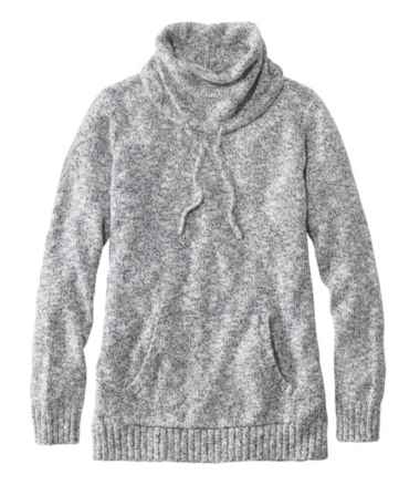 Women's Cotton Ragg Sweater, Cowl Pullover
