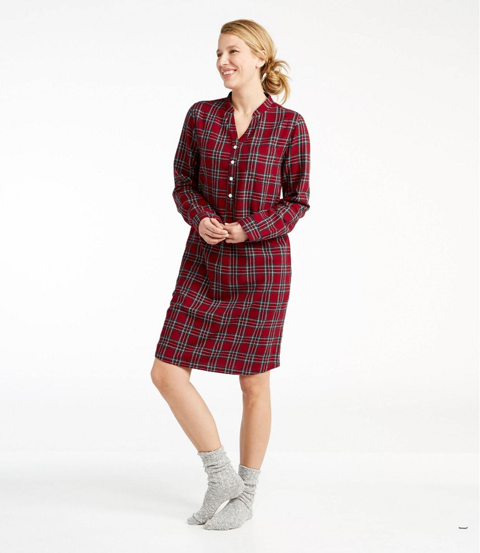 Scotch Plaid Flannel Nightshirt 7bebff99b
