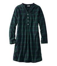 Scotch Plaid Flannel Nightshirt, Popover Plaid