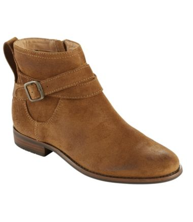 Westport Ankle Strap Boots, Oiled Suede