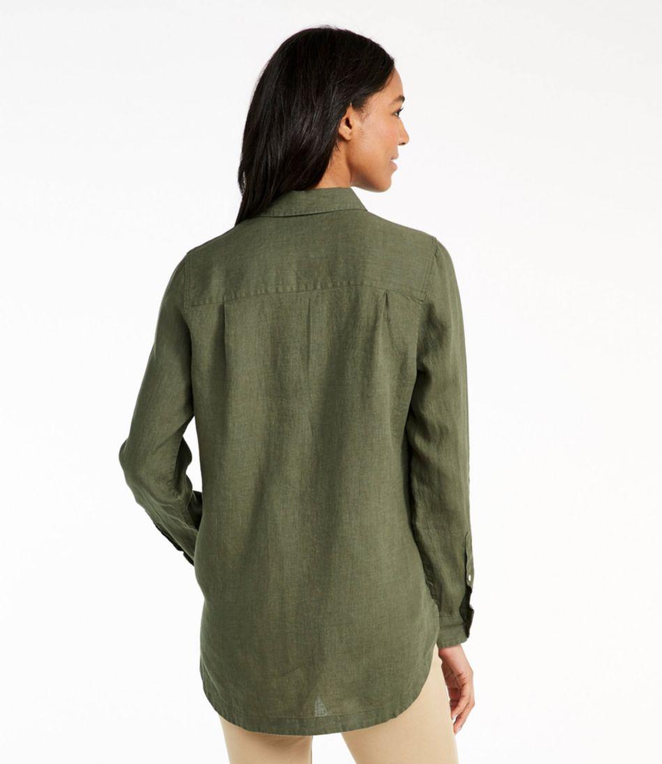 Premium Washable Linen Button-Front Tunic