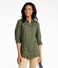 Women's Premium Washable Linen Button-Front Tunic