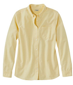 Women's Lakewashed Organic Cotton Oxford Shirt