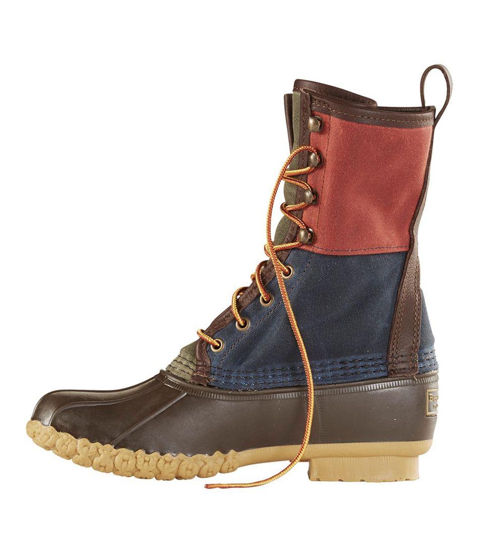 4b87a45fcc849 Signature Retro Colorblock Waxed-Canvas Bean Boots