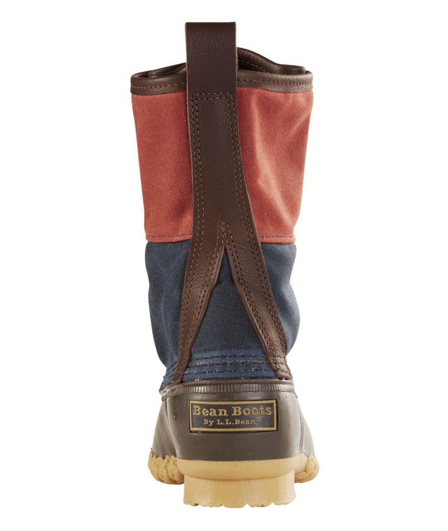 "Signature Retro Colorblock Waxed-Canvas Bean Boots, 10"""