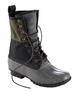 "Women's Signature Retro Colorblock Waxed-Canvas Bean Boots, 10"""