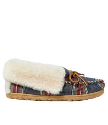 Women's Wicked Good Moccasins, Plaid