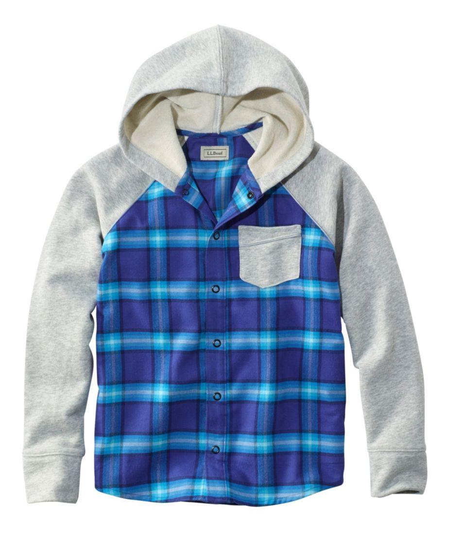 Kids' Flannel Sweatshirt, Colorblock