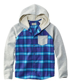 Flannel Sweatshirt, Colorblock