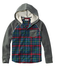Kids' Flannel Sweatshirt, Colorblock