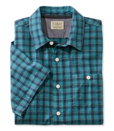 Casco Bay Camp Shirt, Short-Sleeve Slightly Fitted Plaid