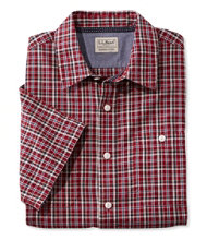 Men's Casco Bay Camp Shirt, Short-Sleeve Slightly Fitted Plaid