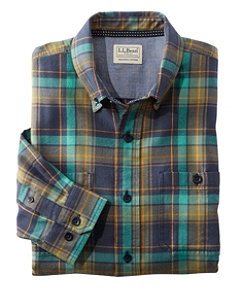 Men's Rangeley Flannel Shirt, Long-Sleeve, Slightly Fitted Plaid Regular