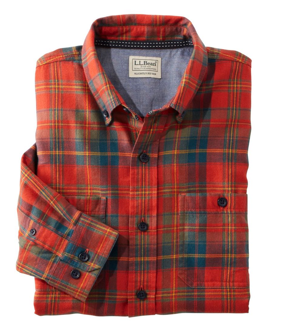 Rangeley Flannel Shirt Long Sleeve Slightly Fitted Plaid Men's Reg