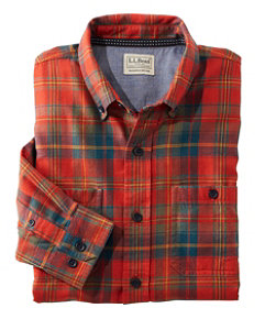 Rangeley Flannel Shirt Long Sleeve Slightly Fitted Plaid Men's Reg